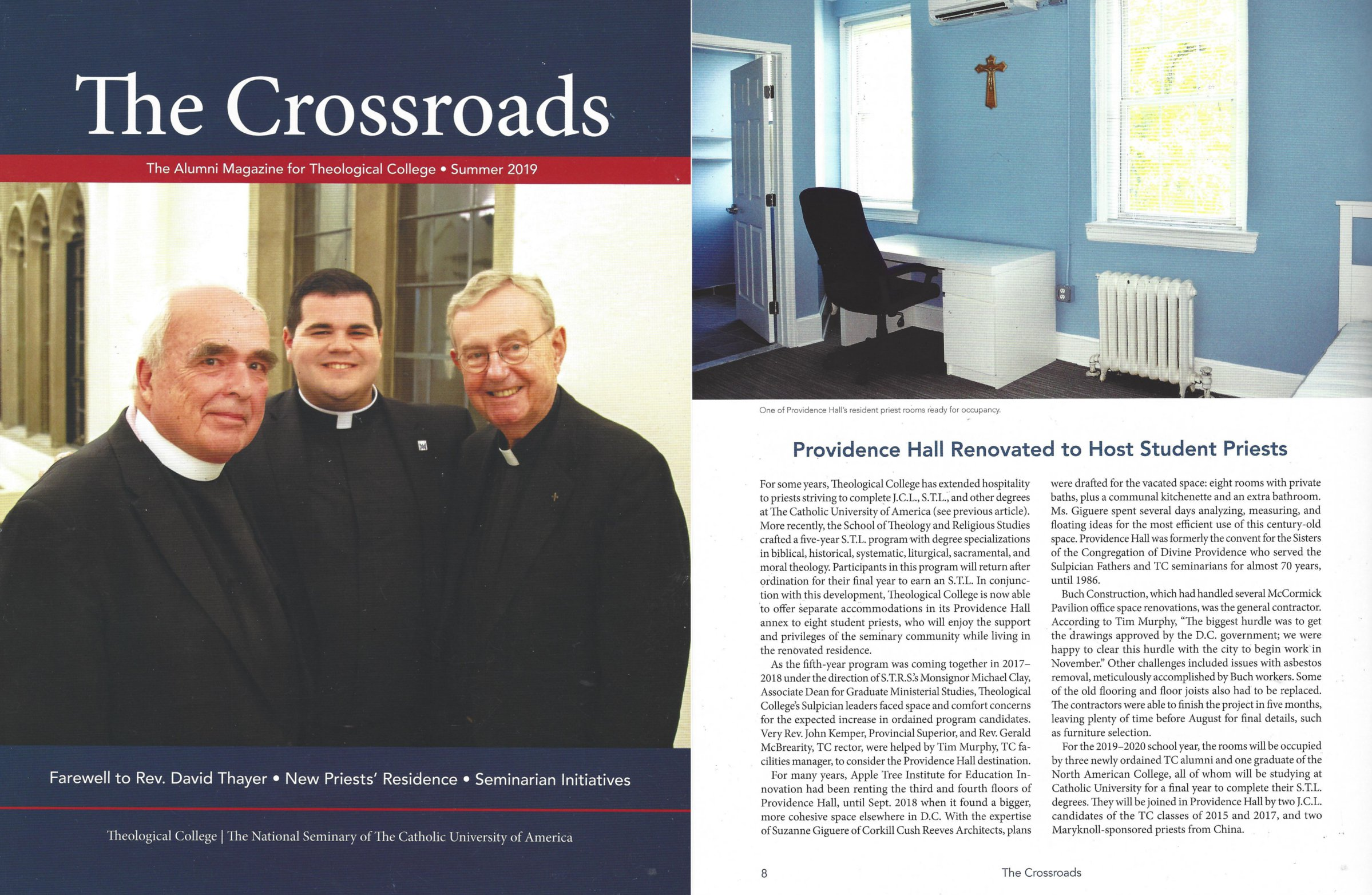 CUA Theological College Renovations Completed in time for Fall '19 School Start